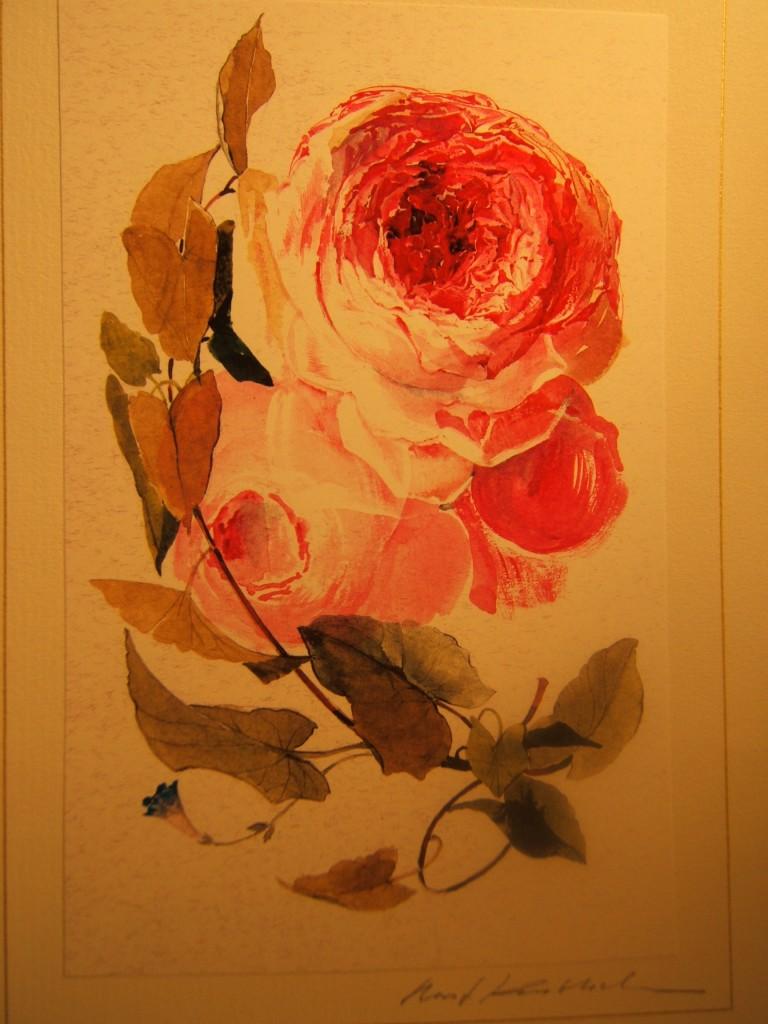 Rose mit Blättern