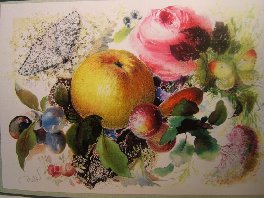 Rose und Apfel